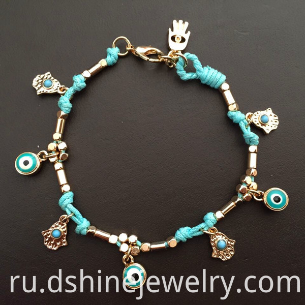 Lucky Turkey Evil Eye Bracelet