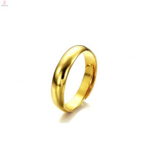 Hand made size adjustable high polished custom gold plated rings for women