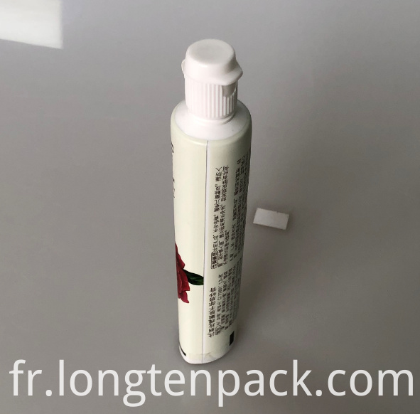 LTP6012 AL toothpaste tube with flip cap