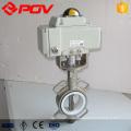 EPDM PTFE Dichtung DN50 DN100 Motorisierte elektrische Kohlenstoffstahl Absperrklappe