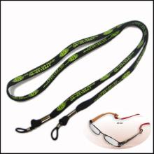 Lanières de cou de polyester de tissu étroit / tubulaire de largeur du polyester 10mm pour le support de lunettes