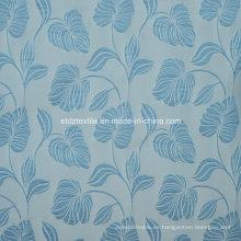 Nuevo tejido de cortina de patrón de flores Jacquard de alta calidad