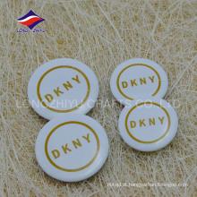 Logotipo da empresa impressa pino de lata de lembrança de cor branca