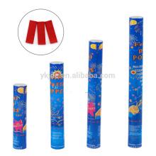 Canon de confettis d'usine avec rectangle de papier rouge et bleu pour la décoration de remise des diplômes