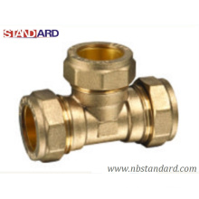 Brass Equal Tee/Tee/Copper Fitting/Copper Pipe/Compression