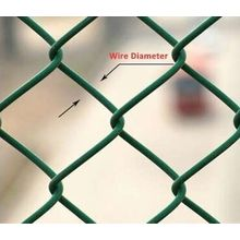Pvc Coated Chain Link Fence Pour les champs de baseball