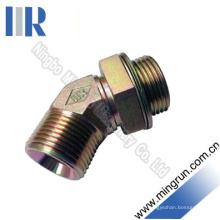 Cotovelo bsp macho o-ring ajustável tubo hidráulico adaptador de montagem (1bg4-og)