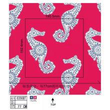 Women Swimwear Nylon Fabric with Sea Horse Print