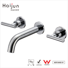 Productos de calidad Haijun Wall Mount Baño Cuenca Grifos De Agua De Latón