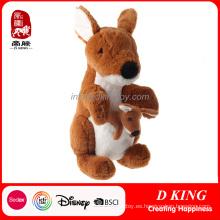 De alta calidad de peluche canguro animales rellenos niños juguete