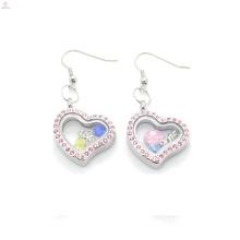 Симпатичный дизайн розовый кристалл сердце подвески серьги,магнитные ювелирные изделия серьги из нержавеющей стали