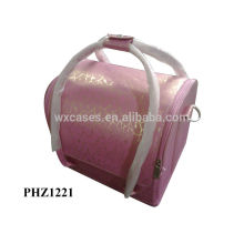 hot sell PVC cosmetic bag with 4 removable trays inside high quality,different color options