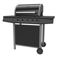 Barbecue à gaz avec brûleur latéral