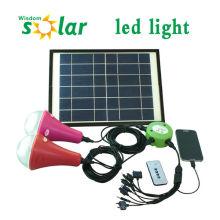 2014 nuevo CE brillante casa solar de la lámpara con lámparas LED y la luz solar del cargador (JR-SL988) 1/2/3