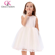 Grace Karin Sleeveless Tulle Netting Lace Flower Girl Princess Bridesmaid Wedding Pageant Party Dress 2~12 Years CL010420-1