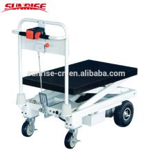 O caminhão elétrico hidráulico portátil da tabela da mão com scissor o elevador