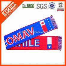 2015 дешевый футбол пользовательские тканые шарф