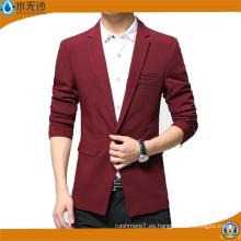 2017 primavera hombres Blazers algodón moda outwear Casual Blazer