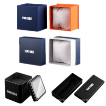 SKMEI Custom Logo Watch Packaging Steel Tin Box Luxury Paperboard Boxes for Jellery Watches