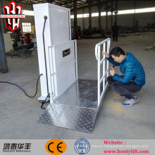 6m CE single person hydraulic wheelchair lifts on floor lift for disabled