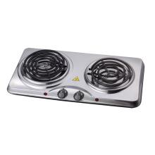 Estufa eléctrica de doble placa caliente en espiral