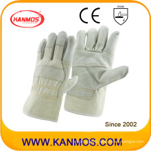 Light Color Cowhide Furniture Leather Industrial Work Safety Gloves (310031)