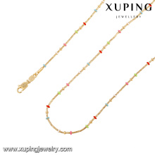 43079 xuping charm new colorful artificial gold long chain imitation necklace