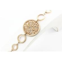 Venta al por mayor de sitios web en China joyas de acero inoxidable cadena de acoplamiento pulsera de oro de las mujeres
