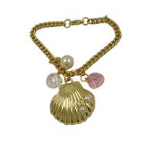 La moda adorna el colgante agradable de Shell del metal con la cadena