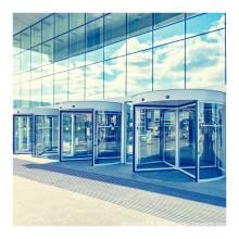 Factory direct 4 wings automatic glass sensor door revolving door for hotel project