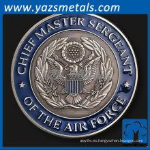personalizar la moneda de metal, la moneda del comandante de la Fuerza Aérea