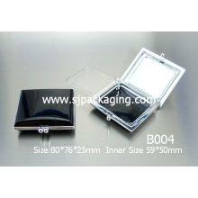 Квадратная компактная коробка порошка упаковка кошелек косметический чемодан пластиковый косметический контейнер косметическая упаковка