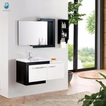 Vanité de salle de bains en bois massif simple E1 Grade Eco-Friend Design moderne