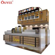 Mall Kiosk Counter Design Top Display Cabinet Fruit Juice Kiosk Food Kiosk Design