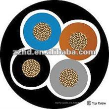 núcleo de cobre, núcleo 4, cable de goma de silicona