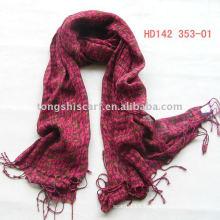 Red viscose scarf