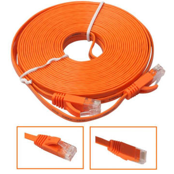 Cable de latiguillo plano Ultra Ethernet CAT5E