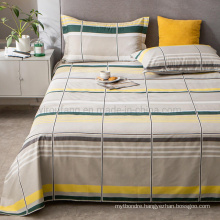 China Wholesale Sheet Set Cheap Price Soft Wrinkle Gingham King Bed Linen