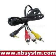3.5mm Steckerwinkel zu 3RCA Stecker Kabel