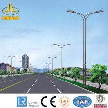 double arm galvanized octagon steel lighting pole