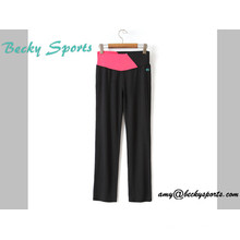 Lady′s Yoga Wear Sport Wear Yoga Pants with Long Loose Style