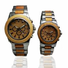 Hlw095 OEM Montre en bois de montre en bambou des hommes et des femmes de haute qualité