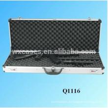 caja de rifle de aluminio de alta calidad con espuma en el interior