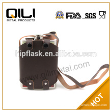 FDA 8oz stainlesds steel cheap whisky liquid unique hip flasks of middle east wedding gifts with leather sheath