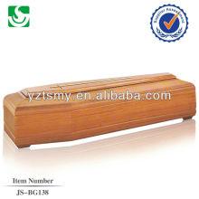 Vente directe fournisseur chinois conception simple cercueil européen