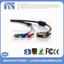 Заводская цена Позолоченный кабель DVI TO 3RCA Кабель с одной линией к мужчине Кабель 3rca 1 м 1,8 м 2 м 3 м 5 м 10 м 15 м 20 м Дополнительно