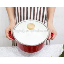 Olla de sopa de esmalte de cocina personalizada 5pcs esmalte