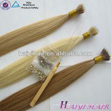Fournisseur de l'assurance du commerce Top Vrigin Remy Human Nano Ring Extension de cheveux