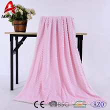 100% polyester Pressure bubble micromink sherpa blankets