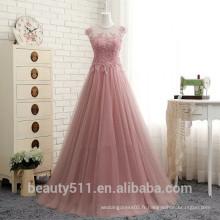 Nouveau style Custom Made charmant élégant A-line scoop Backless chiffon avec cristal formelle longue robe de soirée robes de bal ED578